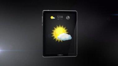 Digital tablet with internet connection — Vidéo
