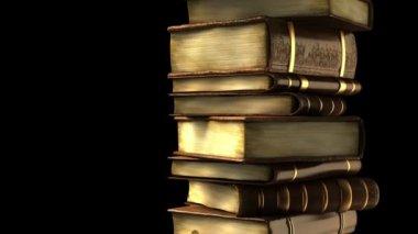 スタックの古い本します。 — ストックビデオ