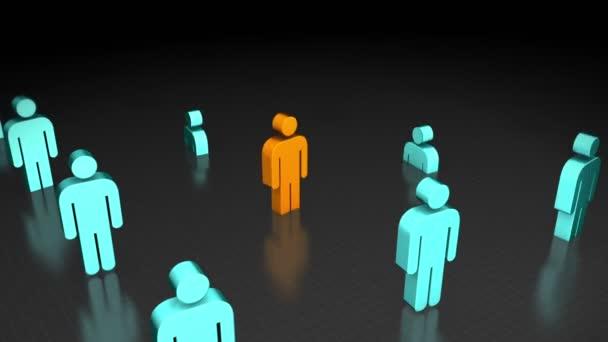 Multicultural Networking — Vídeo de stock