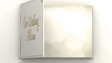 Wedding album with blank pages — Video Stock