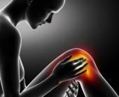 女性膝盖受伤 — 图库照片