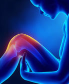 Female knee injured — Stock fotografie