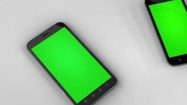 Two smartphones — Stock Video