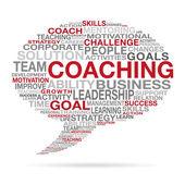 Coaching Business Succes Cloud Concept — Stock Vector