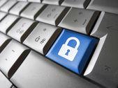De sleutel van de veiligheid van de data van de computer — Stockfoto