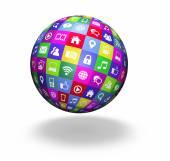 Web Social Media Globe — Stock Photo