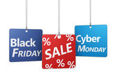 Black Friday And Cyber Monday Sale — Stock Photo