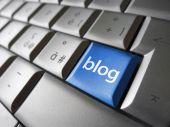 Web Blog Key Concept — 图库照片
