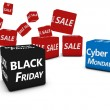 Cyber Monday And Black Friday Sales — Stock Photo #59125909