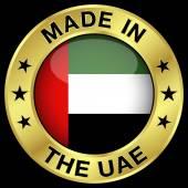 Crachá de ouro nos Emirados Árabes Unidos — Vetor de Stock