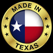 Texas Made In Badge — Stockvector