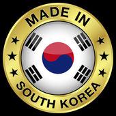 South Korea Made In Badge — Stok Vektör
