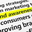 Brand Awareness Marketing And Advertising Concept — Stock Photo #68476527