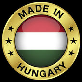 Hungary Made In Badge — Stock Vector