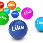 Social Media sieci Web znaki — Zdjęcie stockowe #76693625