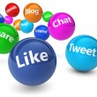 Social Network And Web Media Concept — Stock Photo #77858962