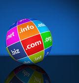 Internet Domain Names Sign Concept — Stock Photo