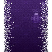 Christmas decoration frame. Snowflake Abstract Background. — Wektor stockowy