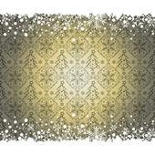Christmas decoration frame. Snowflake Abstract Background. — Stockvektor