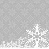 Christmas decoration frame. Snowflake Abstract Background. — ストックベクタ