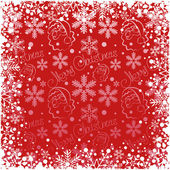Christmas decoration frame. Snowflake Abstract Background. — Vector de stock