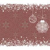 Christmas decoration frame. Snowflake Abstract Background. — Stock vektor