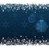 Christmas decoration frame. Snowflake Abstract Background. — Stock Vector