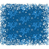 Christmas decoration frame. Snowflake Abstract Background. — Vettoriale Stock