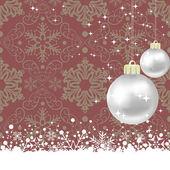 Boże Narodzenie ozdoba rama. Śnieżynka streszczenie tło. — Wektor stockowy