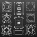 Decorative elements. Set of calligraphic vintage frames for design. Vector image. — Stock Vector #61745527