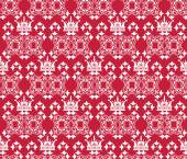Red wallpaper in old style — 图库矢量图片