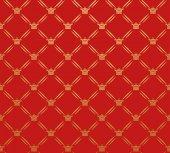 Retro Wallpaper Pattern Red — Stock Vector
