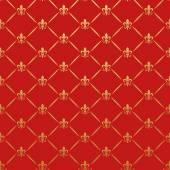 Papel pintado retro patrón rojo — Vector de stock