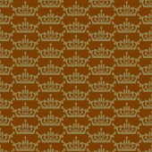Wallpaper background seamless pattern for Your design. Color brown. — 图库矢量图片
