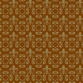 Wallpaper background seamless pattern for Your design. Color brown. — Vettoriale Stock