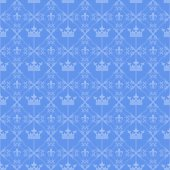 Wallpaper background seamless pattern for Your design Blue — Stock Vector