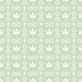 Wallpaper background seamless pattern for Your design. Color Green. — Stock Vector