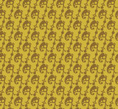 Wallpaper background seamless pattern for Your design. Color old gold. — Vettoriale Stock