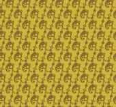 Wallpaper background seamless pattern for Your design. Color old gold. — Stockvector