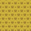 Wallpaper Background. Seamless pattern. Old gold Color — Stock Vector #69481181