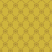 Wallpaper Background. Seamless pattern. Old gold Color — Vector de stock