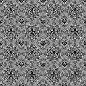 Seamless mönster. Royal tapet. Grå — Stockvektor