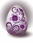 Purple Easter Egg — Stock Vector