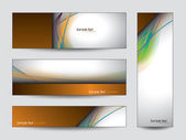 Collection of colorful Banners. — Stock Vector
