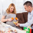 Pregnant woman and her husband — Stock Photo #54581703