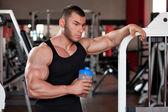 Bodybuilder protein shake — Stock Photo