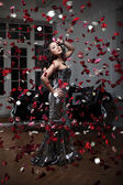 Asian woman. Fashionable modern luxury woman with fashion hairst — Stock Photo