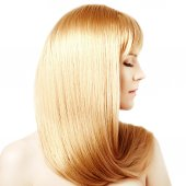 Hair. Beauty young woman with luxurious long blond hair. Girl wi — Stock Photo