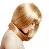 Hair. Beauty young woman with luxurious long blond hair. Girl wi — Stockfoto