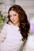 Slim trendy, luxurious, fashion woman in  lux vintage interior w — Stock Photo